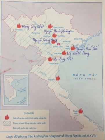 Giải Tập bản đồ Lịch Sử 7 bài 24: Khởi nghĩa nông dân đàng ngoài thế kỉ 18
