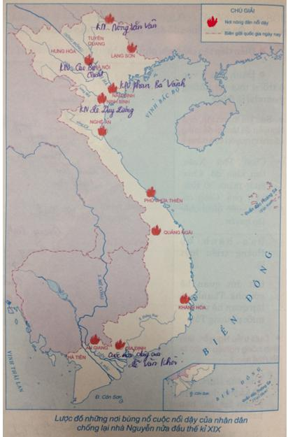 Giải Tập bản đồ Lịch Sử 7 bài 27: Chế độ phong kiến nhà Nguyễn