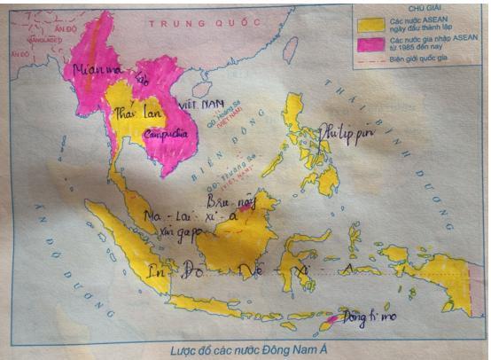 Giải Tập bản đồ Lịch Sử 9 bài 5: Các nước Đông Nam Á