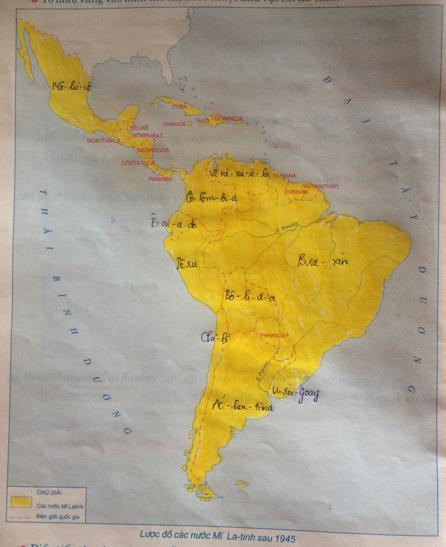 Giải Tập bản đồ Lịch Sử 9 bài 7: Các nước Mĩ-Latinh