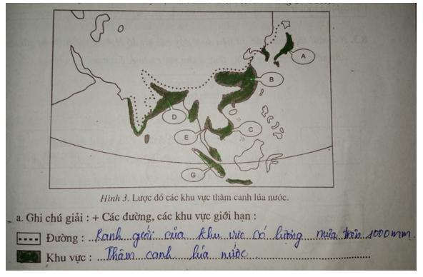 Giải vở bài tập Địa Lý 7 bài 8: Các hình thức canh tác trong nông nghiệp ở đới nóng