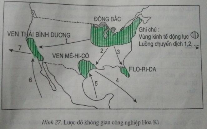 """Giải vở bài tập Địa Lý 7 bài 40: Thực hành: Tìm hiểu vùng công nghiệp truyền thống ở Đông Bắc Hoa Kì và vùng công nghiệp """"Vành đai Mặt Trời"""""""