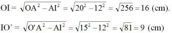 Giải bài tập SGK Toán lớp 9 bài 7: Vị trí tương đối của hai đường tròn