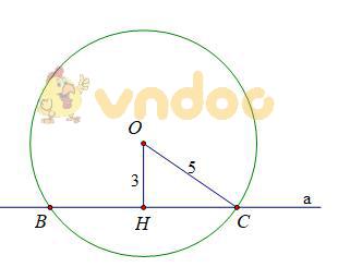 Giải bài tập Toán lớp 9 bài 4: Vị trí tương đối của đường thẳng và đường tròn