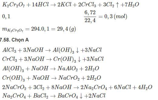 Giải bài tập Hóa học 12 SBT bài 34