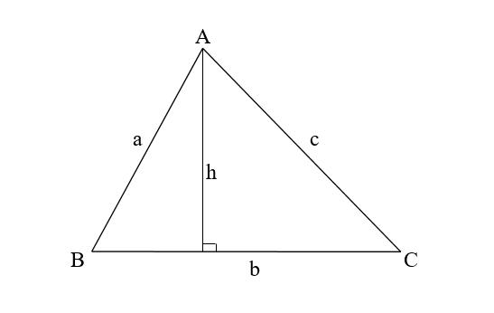 Công thức tính chu vi tam giác