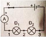 Lý thuyết Vật lý lớp 7 bài 27: Cường độ dòng điện và hiệu điện thế của đoạn mạch mắc nối tiếp, mắc song song