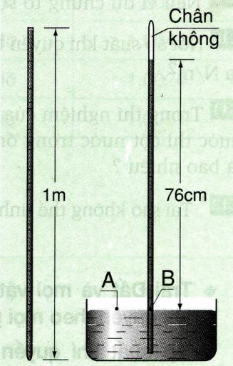 Lý thuyết Vật lý lớp 8 bài 9: Áp suất khí quyển