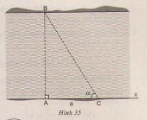 Giải bài tập Toán lớp 9 bài 5: Ứng dụng thực tế các tỉ số lượng giác của góc nhọn. Thực hành ngoài trời