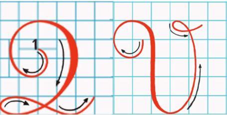 Tập viết chữ hoa: Q, V (Kiểu 2)
