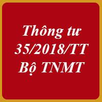 Thông tư 35/2018/TT-BTNMT