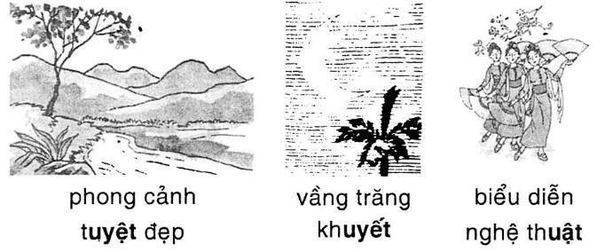Giải vở bài tập Tiếng Việt 1 bài 101: uât uyêt