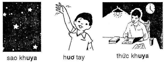 Giải vở bài tập Tiếng Việt 1 bài 99: uơ uya