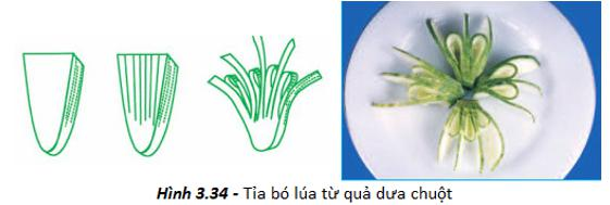 Thực hành - Tỉa hoa trang trí món ăn từ một số loại rau, củ, quả