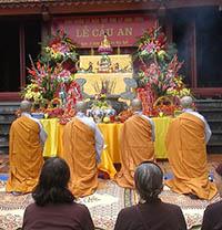 Nghi thức cầu an ở chùa