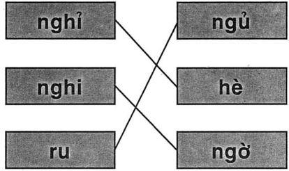 Giải vở bài tập Tiếng Việt 1 bài 25: ng ngh
