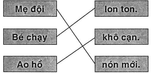Giải vở bài tập Tiếng Việt 1 bài 44: on an