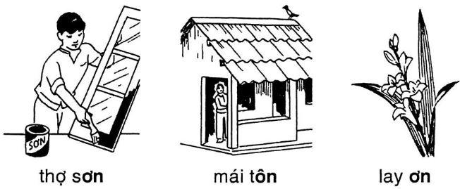 Giải vở bài tập Tiếng Việt 1 bài 46: ôn ơn