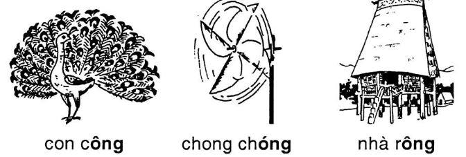 Giải vở bài tập Tiếng Việt 1 bài 52: ong ông
