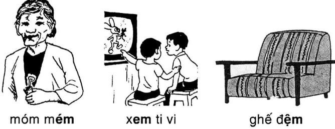 Giải vở bài tập Tiếng Việt 1 bài 63: Em Êm