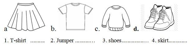 Bài tập tiếng Anh lớp 4 chương trình mới Unit 17: How much is the T-shirt?