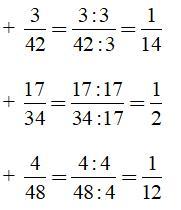 Bài tập Toán lớp 6: Rút gọn phân số