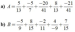 Tính chất cơ bản của phép cộng phân số