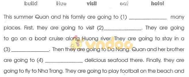 Bài tập tiếng Anh lớp 4 chương trình mới Unit 20 có đáp án