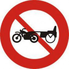 Biển báo cấm xe ba bánh loại có động cơ P111c (xe lôi máy...)