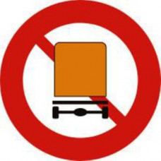 Biển báo cấm xe trở hàng nguy hiểm