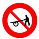 Biển báo cấm xe người kéo, đẩy P113