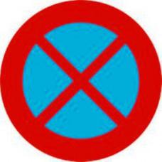 Biển báo cấm dừng xe và đỗ xe P130