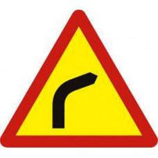 Biển báo chỗ ngoặt nguy hiểm vòng bên phải W201b