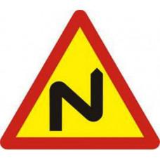 Biển báo nhiều chỗ ngoặt nguy hiểm liên tiếp bên phải W202b