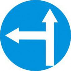Biển báo các xe chỉ được đi thẳng và rẽ trái