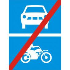 Biển báo hết đường dành cho ô tô xe máy