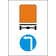 Biển báo hướng đi trái cho các xe chở hàng nguy hiểm