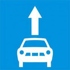 Biển báo làn đường dành riêng cho xe ô tô con
