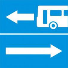 Biển báo rẽ ra đường có làn đường dành cho ô tô khách