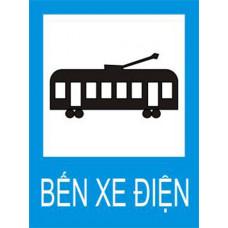 Biển báo Bến xe điện