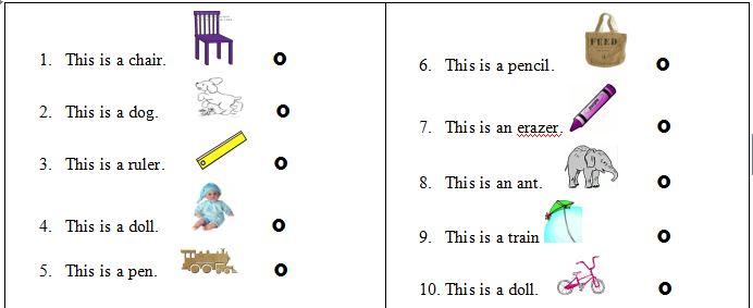 Bài tập Tiếng Anh lớp 2 chủ đề về đồ vật, con vật