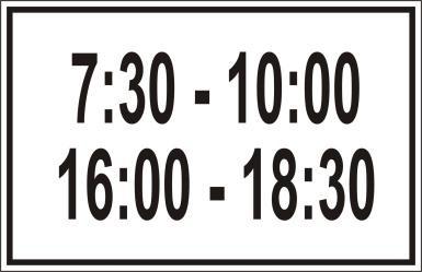 Biển báo biểu thị thời gian