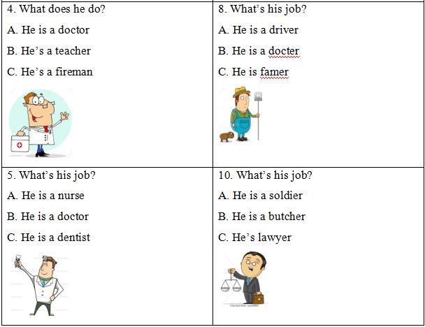 Đề thi học kì 2 lớp 4 môn Tiếng Anh