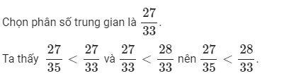Ôn tập so sánh hai phân số (tiếp)