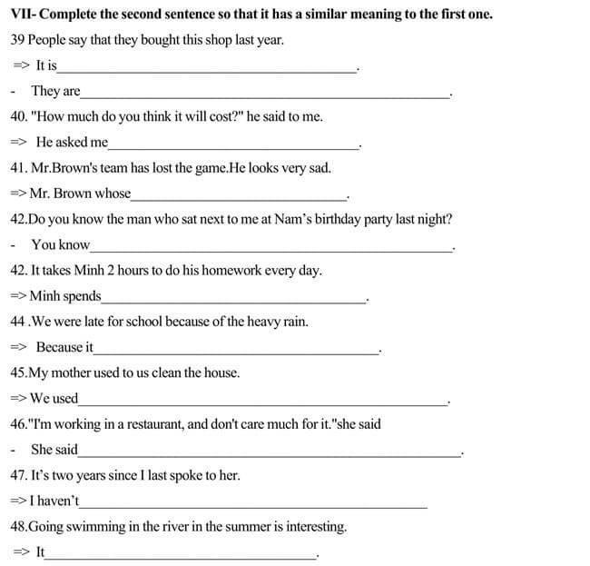 Đề thi vào lớp 10 môn Tiếng Anh