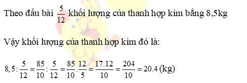 Bài tập cuối tuần môn Toán lớp 6