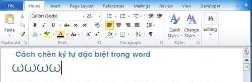 Cách chèn ký tự đặc biệt vào Word