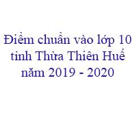 Điểm chuẩn vào lớp 10 tỉnh Thái Bình năm 2019