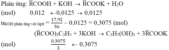 Xác định chỉ số xà phòng hóa, chỉ số axit, chỉ số iot của chất béo