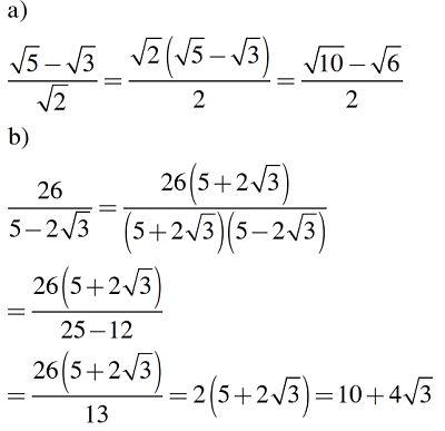 Chuyên đề trục căn thức ở mẫu của biểu thức: Lý thuyết và Bài tập